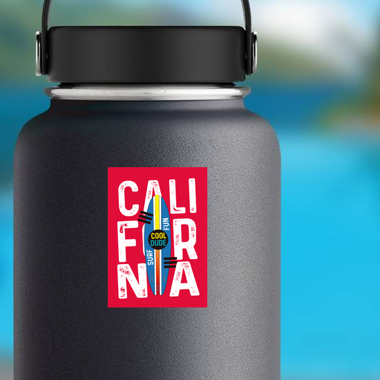 Fun California Surf Sticker