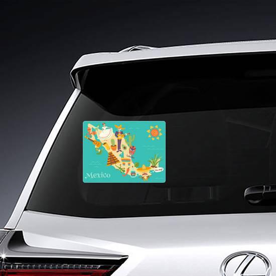 Fun Mexico Map Sticker example