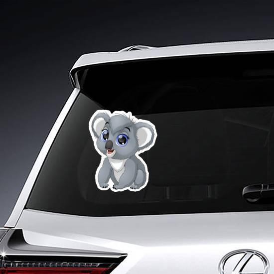 Funny Big Eyed Baby Koala Sticker