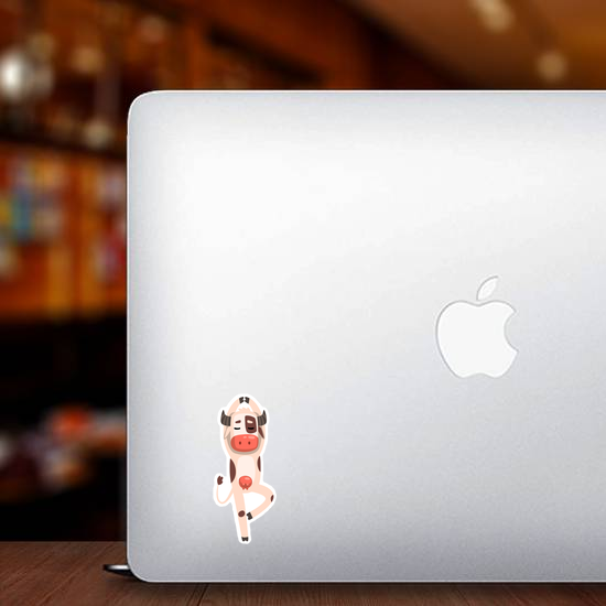 Funny Dancing Cow Sticker