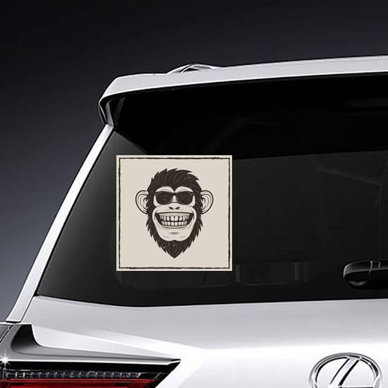 Funny Monkey In Sunglasses Sticker