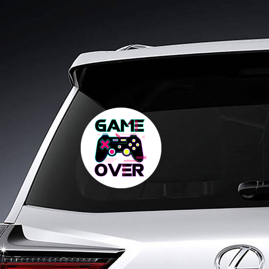Game Over Joypad Console Controller Sticker