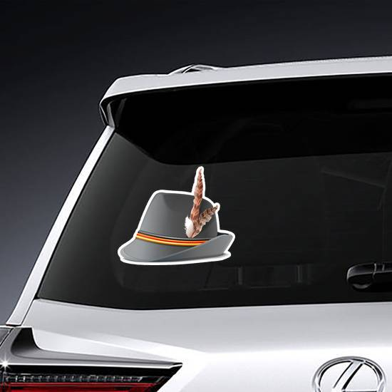 German Hat With Feather Sticker example