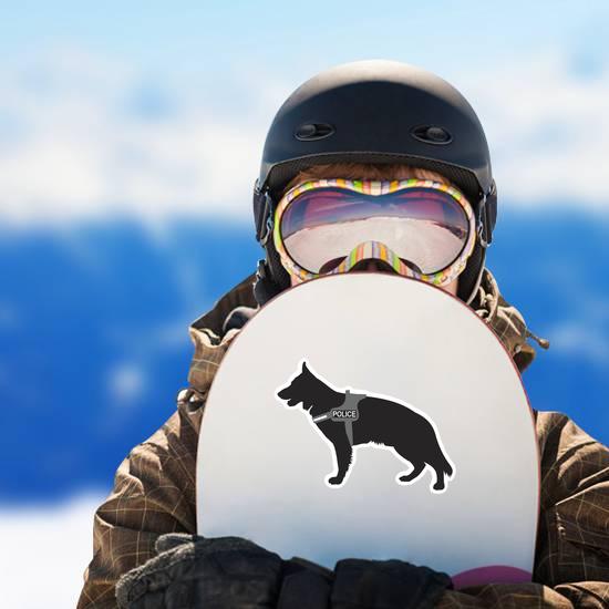 German Shepherd Police Dog Sticker
