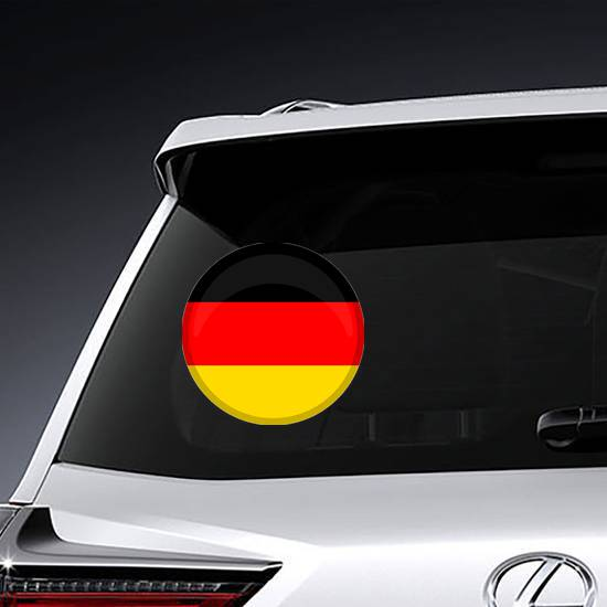 Germany Flag Button Circle Sticker example
