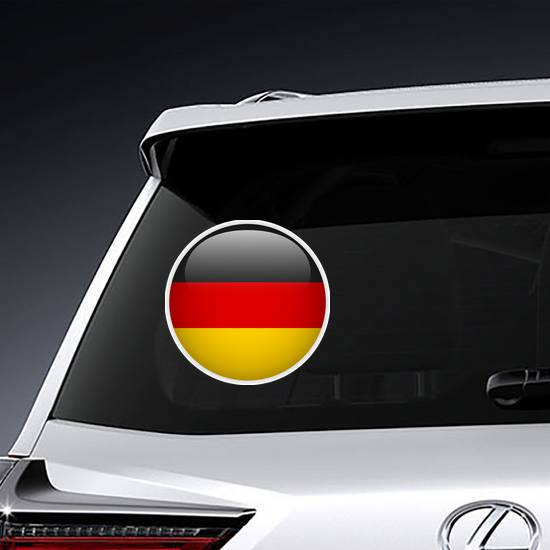 Germany Flag Glossy Button Sticker example