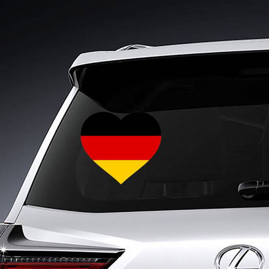 Germany Flag In Heart Sticker example