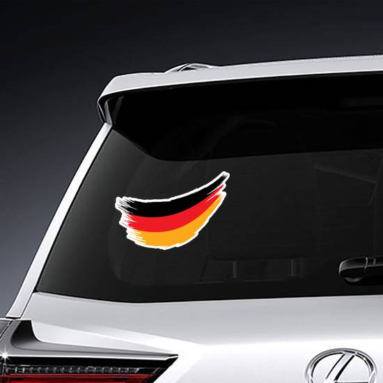 Germany Flag Paint Swish Sticker example