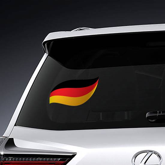 Germany Flag Swoosh Sticker example
