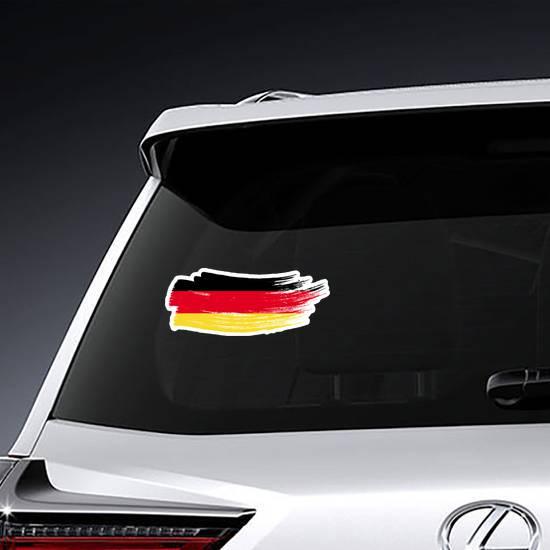 Germany National Flag Brush Stroke Sticker example