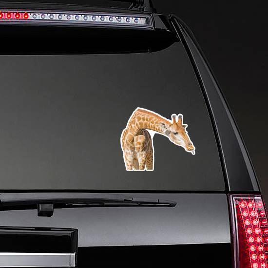 Giraffe With Tongue Out Sticker
