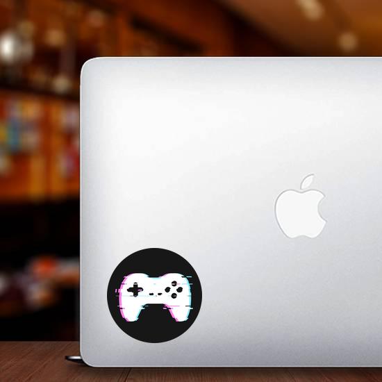 Glitched Gamepad Sticker
