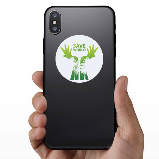 Go Green And Save The World Sticker