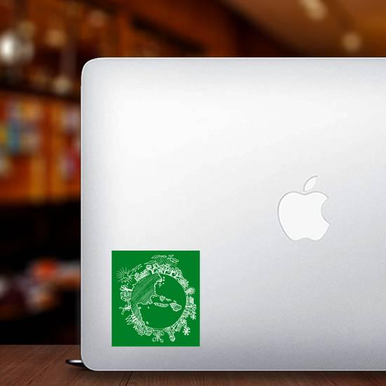 Go Green Earth Doodle Sticker