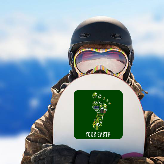 Go Green For Earth Carbon Footprint Sticker