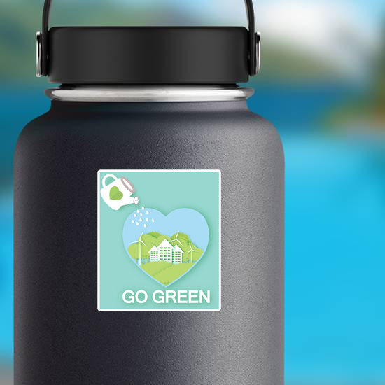 Go Green Heart With Watering Can