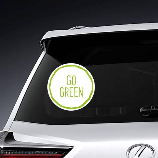 Go Green Simple Sticker