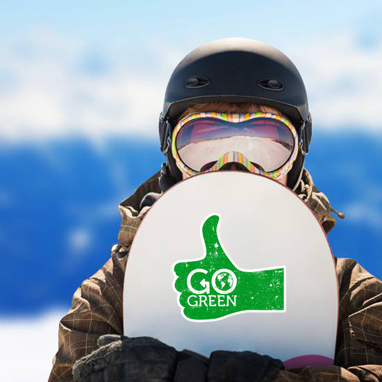 Go Green Thumbs Up Sticker