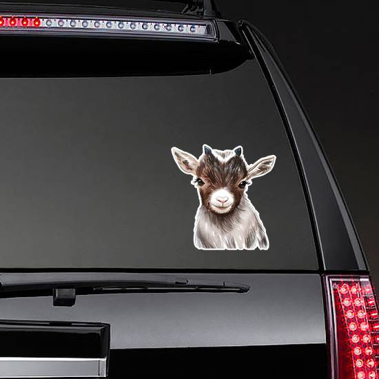 Goat Print, Baby Animal Print Sticker