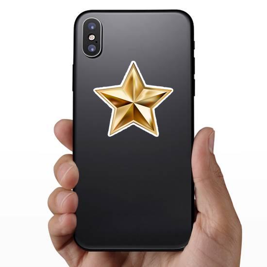 Gold Star Badge Sticker