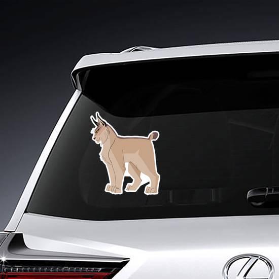Gorgeous Cartoon Bobcat Sticker