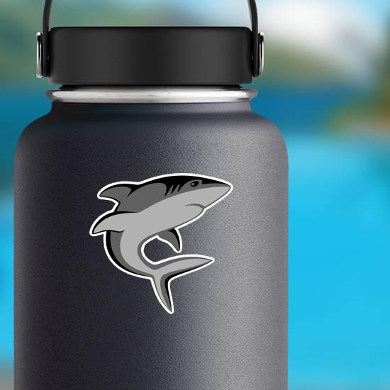Gray Shark Swimming Sticker
