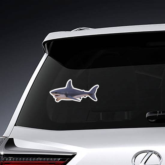 Grazing Great White Shark Sticker
