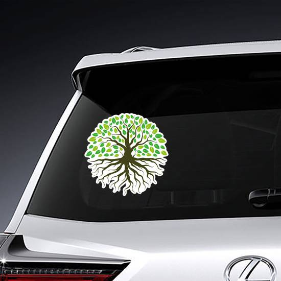 Green Forestry Strong Root Tree Sticker