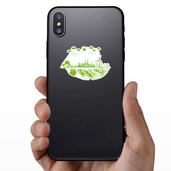 Green Sustainable City Sticker