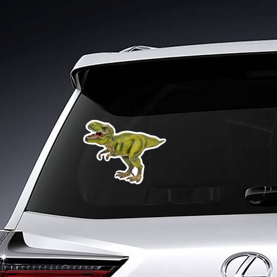 Green Tyrannosaurus Dinosaur Sticker