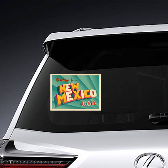 Greetings From New Mexico Sticker example