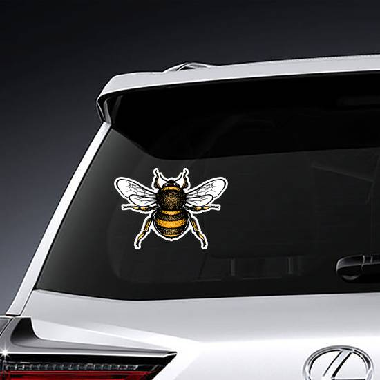 Hand Drawn Bumblebee Sticker