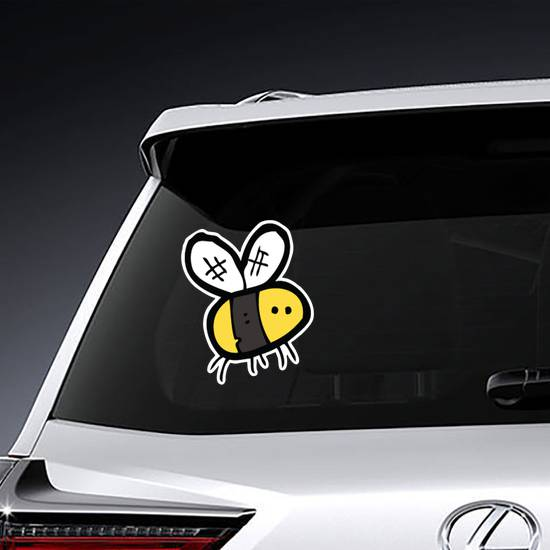 Hand-Drawn Cartoon Bee Sticker