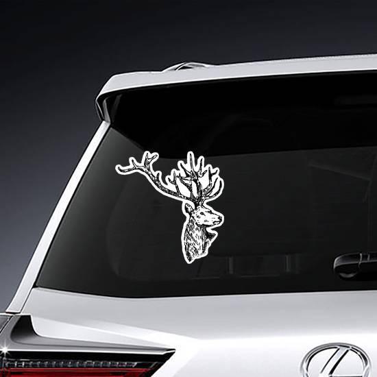Hand Drawn Deer Sketch Sticker