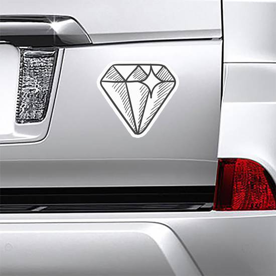 Hand Drawn Diamond Sticker