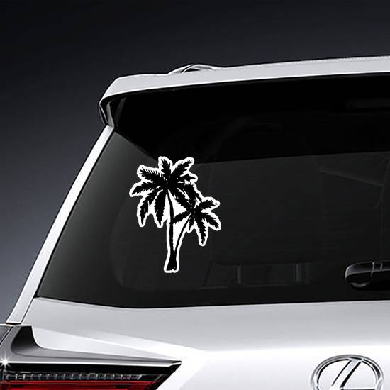 Hand Drawn Palm Trees Silhouette Sticker example