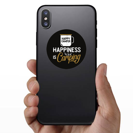 Happiness Is Camping Sticker
