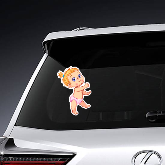 Happy Baby Girl Sticker
