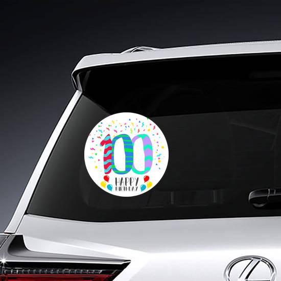 Happy Birthday Number 100 Sticker example