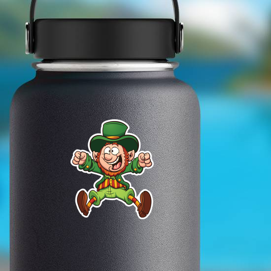 Happy Cartoon Leprechaun Sticker