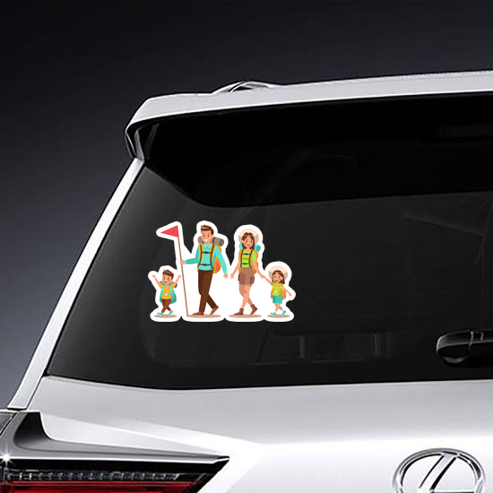 Happy Family Camping Sticker
