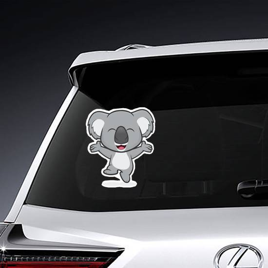 Happy Koala Jumping Sticker