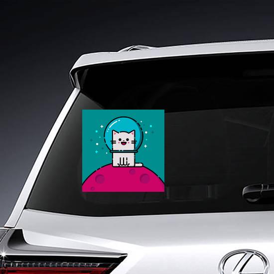 Happy Space Cat Sticker