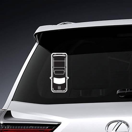 Hatchback Icon Sticker