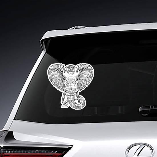 Head Of An Elephant Sticker example