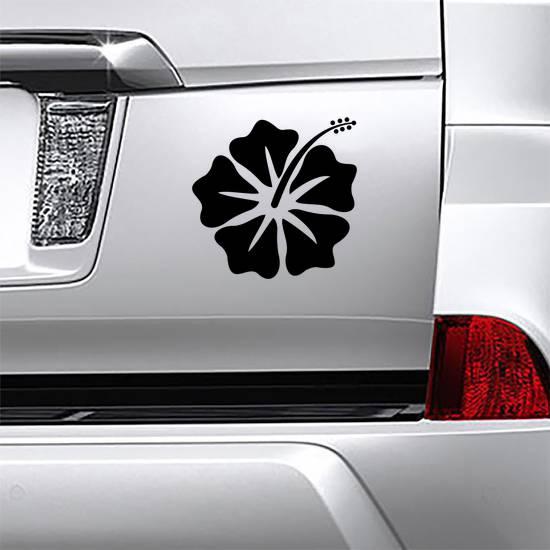 Hibiscus Flower Vector Logo Sticker example