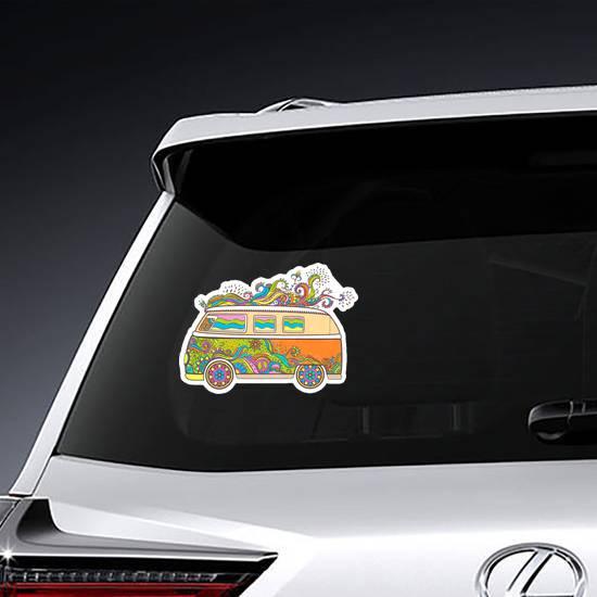 Hippie Mini Van Sticker example