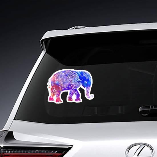 Hippie Style Elephant Sticker example