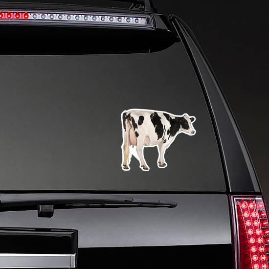 Holstein Cow, Standing In Front Of White Background Sticker