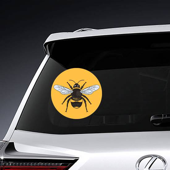 Honey Bee Circle Sticker